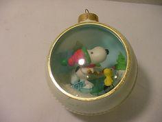 70's snoopy christmas ornament.
