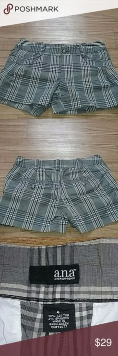 ANA plaid shorts Like new; worn twice. No stains or defects. Can be worn to the office or anything you want really. Shorts
