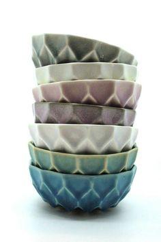 Keramikskåle af Helene Stockmarr. Stilleben.