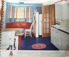 https://flic.kr/p/6RTg5Q | Sherwin Williams Paint and Color Style Guide | The partition nest to the refrigerator and the booth is a great idea!  This book is from 1941 and shows exteriors and interiors of homes with attractive color schemes.