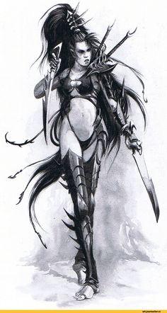 warhammer 40000,фэндомы,dark eldar,Lelith Hesperax,wych