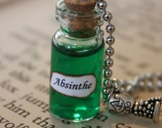 Absinthe bottle charm