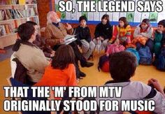 """I remember when MTV first debuted. Their motto was """"All Music All The Time"""".those were the days! Music Humor, Music Jokes, Funny Music, I Remember When, Haha Funny, Funny Stuff, Funny Things, That's Hilarious, Viajes"""