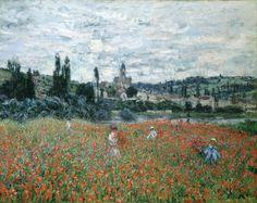 Monet, Champs de coquelicots près de Vétheuil, vers 1879, Huile sur toile, 71.5 x 91.5 cm, Fondation Collection E.G. Bührle, Zurich | une dilettante