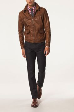 Leather jackets - MEN - United States  massimo dutti