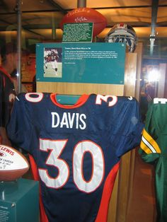 Terrell Davis  Jersey in the HOF - Denver Broncos - Canton 91512a262