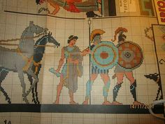 Cross Stitch Embroidery, Cross Stitch Patterns, Greek Pattern, Greek Design, Costume Patterns, Ancient Greece, Beads, Needlepoint, Crafts