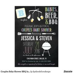 Couples Baby Shower BBQ Invitation