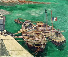 Landing Stage With Boats Painting by Vincent van Gogh