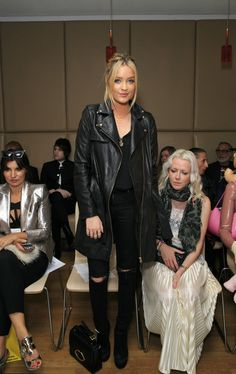 Laura Whitmore Photos: Front Row at London Fashion Week