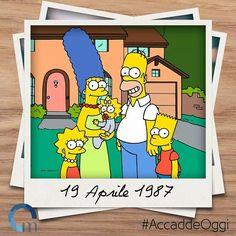 """""""I Simpson"""" la famiglia più amata della televisione mondiale nasce il 19 aprile del 1987 dal genio Matt Groening"""