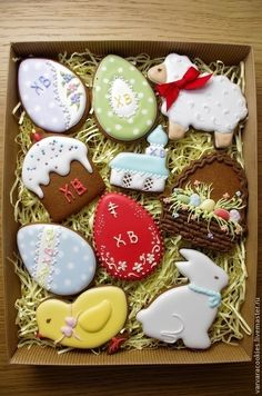 Easter is all about beautiful decorations that actually add pep to the festive activities. So make this summer holidays extra special by trying out unique Easter bunny cookies and cakes ideas. Summer Cookies, Fancy Cookies, Iced Cookies, Heart Cookies, Easter Cupcakes, Easter Cookies, Birthday Cookies, Valentine Cookies, Christmas Cookies