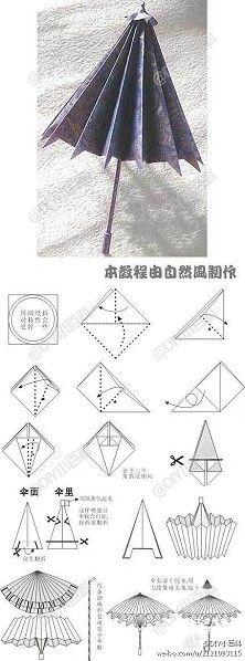 Umbrella origami