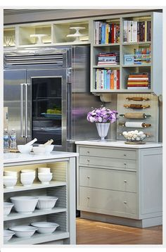 I'd love to make a cabinet into a cookbook shelf