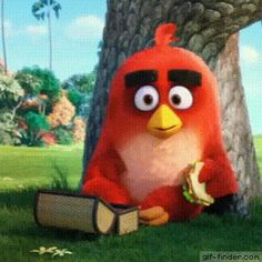 "I couldn't help it, I found it and I just thought ""I need this on my board"" I mean c'mon it's a cute gif. Angry Birds  (Red) – Kiss"