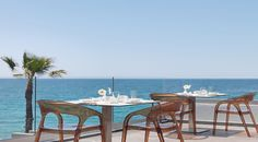 Elia Restaurant, #AlasResort #Monemvasia Outdoor Tables, Outdoor Decor, Jacuzzi, Resort Spa, Outdoor Furniture Sets, Dining Table, Restaurant, Luxury, Home Decor
