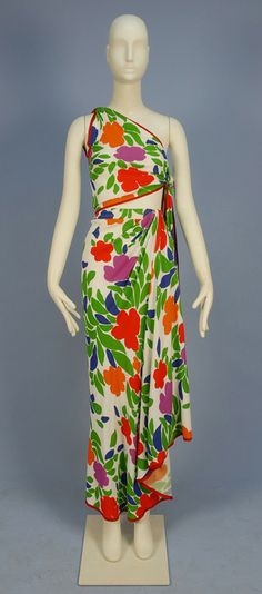 I'm wearing this to the Tiki bar this evening.    Yves Saint Laurent, 1970s  Whitaker Auctions