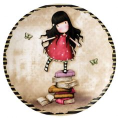 Gorjuss New Heights Wall Plate. Start someones collection today with this beautiful Gorjuss keepsake wall plate. New product 2014 Girl Cartoon, Cute Cartoon, Santoro London, Creation Deco, School Bags For Girls, Bottle Cap Images, Decoupage Paper, Baby Kind, Cute Images