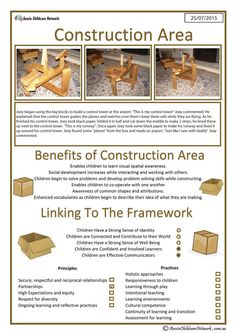 This template can be used to show how a child benefits from playing in construction area. Construction involves children building and making things no. Play Based Learning, Learning Through Play, Early Learning, Eylf Learning Outcomes, Learning Stories Examples, Emergent Curriculum, Play Quotes, Childcare Activities, Family Child Care