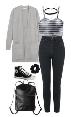 """""""Untitled #2601"""" by hiitsbre ❤ liked on Polyvore featuring MICHAEL Michael Kors, Topshop, Converse, Monki, ASOS and American Apparel"""