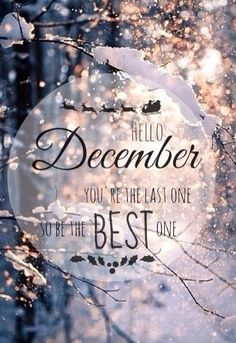 December oh my. Happy December Let's make our mission to make the last one of 2019 be the best one! Let's not let the hustle & bustle or the stress of the season get the best of us!