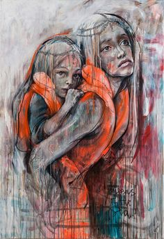 """QUEENS OF THE SEA"""" our herakut tribute to one part of our ongoing humanitarian crisis: the silent mass grave the Mediterranean Sea has become. According to https://missingmigrants.iom.int/ there have been 4699 reported deaths in 2016. In 2015: 3777. in 2014: 3279. Remind yourself that people who are still willing to take the risk with this dangerous escape route, are running from worse. This is so hard to imagine. Each death stands for a name and a life just like our own. No one gets to…"""