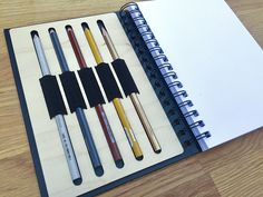 in-notebook pencil holder
