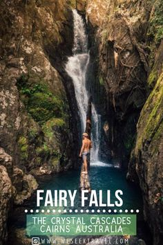 Fairy Falls Cairns is a small hidden gem just a short walk from the popular swimming spot at Crystal Cascades. Cool Places To Visit, Places To Travel, Travel Destinations, Places To Go, Holiday Destinations, Australian Road Trip, New Travel, Group Travel, Australia Travel