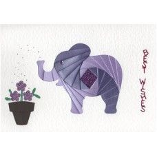 Iris Folding Elephant More Iris Paper Folding, Iris Folding Pattern, Diy Projects To Try, Crafts To Do, Arts And Crafts, Origami, Crazy Quilt Blocks, Bday Cards, Pattern Paper