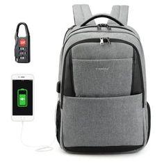 Tigernu 2018 - $29.99 (coupon: Tigernu2518) Brand New Design Male Mochila 15.6 Anti-theft laptop backpack USB Charging Backpack waterproof Schoolbag GREY  #TIGERNU, #Backpack, #gearbest, #рюкзак, #Bag, #USB   0162