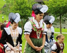 Folk costume from the Swiss canton of Appenzell.
