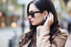 Coco & Vera wearing luxe clusters studs