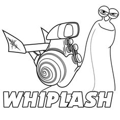 Awesome Whiplash of Disney Turbo Coloring Page