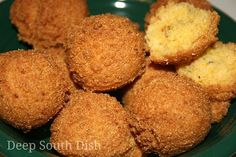 HUSHPUPPIES: Ingredients 1-1/2 cups cornmeal 3/4 cup of self-rising flour 3 tablespoons of granulated sugar 1/4 cup finely minced onion 1 large egg 1 tablespoon melted bacon drippings or canola oil 1/4 teaspoon of kosher salt, freshly cracked black