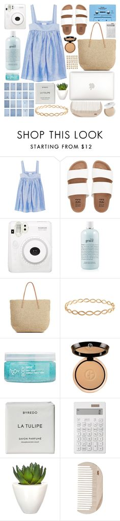 """""""Untitled #452"""" by inkcoherent ❤ liked on Polyvore featuring CO, Billabong, Fuji, philosophy, Target, Irene Neuwirth, H2O+, Giorgio Armani, CASSETTE and Byredo"""