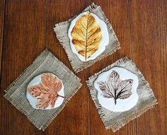 Осенние поделки: отпечатки листьев