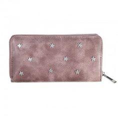 Portemonnee star studs roze/bruin