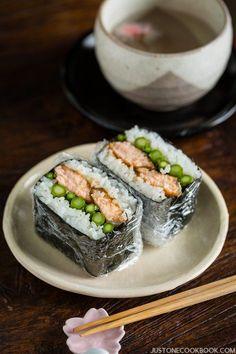 Teriyaki Salmon Onigirazu | Easy Japanese Recipes at http://JustOneCookbook.com