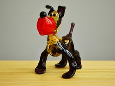 BullDog Glass Figurine Dog Animals Glass Doggy Miniature Art | Etsy Caterpillar Toys, Owl Pet, Dog Sculpture, Glass Figurines, Iris Flowers, Glass Collection, Handmade Toys, Glass Art, Art Pieces