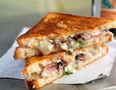 Bucheron Goat Cheese with Pork Pastrami Melt with Bluberry Bacon Jam - Pork Food Service