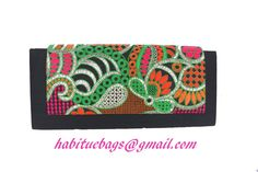 Black clutch with Mulcicouloured flap