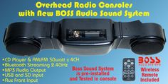 Golf Cart Overhead Radio Console with BOSS Bluetooth Audio System - WHEELZ Custom Carts & Accessories