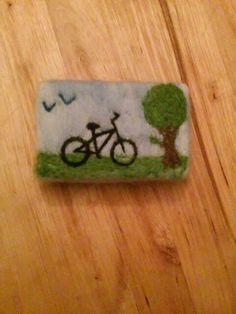 Keçe sabun felt soap bicycle soap