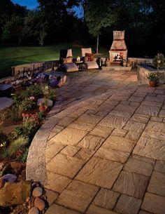 Beautiful stone pavers for the patio! #patios www.HomeChannelTV.com