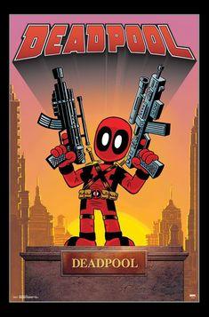 Marvel Comics Magnet - Deadpool Mini With Guns - Midtown Comics Deadpool, Heroic Age, Midtown Comics, Arte Nerd, Statue Tattoo, Greek Statues, Angel Statues, Comic Art Community, Dragon Statue