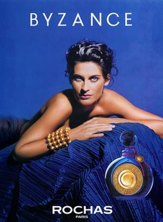 Marcel Rochas (Perfumes) 1990 Byzance Blue Perfume, Perfume Tray, Vintage Perfume, Perfume Bottles, Marcel Rochas, Perfume Adverts, Magazine Mode, Cosmetics & Perfume, Beauty Makeup