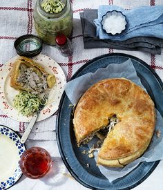 Chicken pie - Australian Gourmet Traveller. This pie uses a whole chicken, and cooking it produces a fine broth that forms the sauce. There will be leftover that you can freeze for future soups.