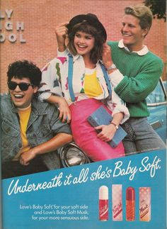 Loves Baby Soft Perfume ad from Teen Magazine August 1987. 80s Fashion & Beauty