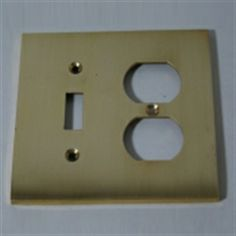 Combo toggle switch plate / Duplex cover plate