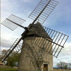 Moulin du vent en France
